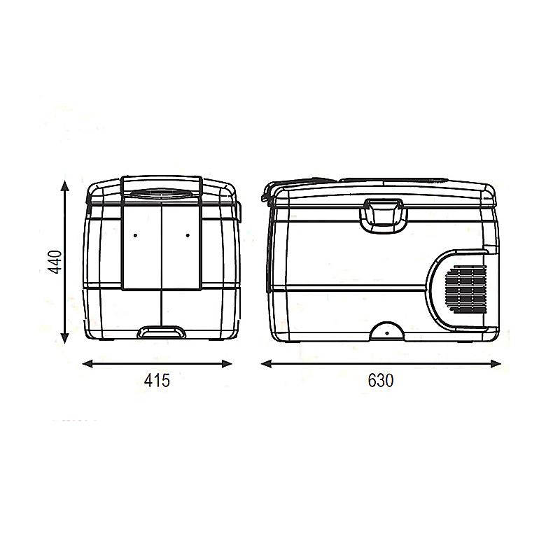 Размеры автохолодильника Indel B TB42A для проката