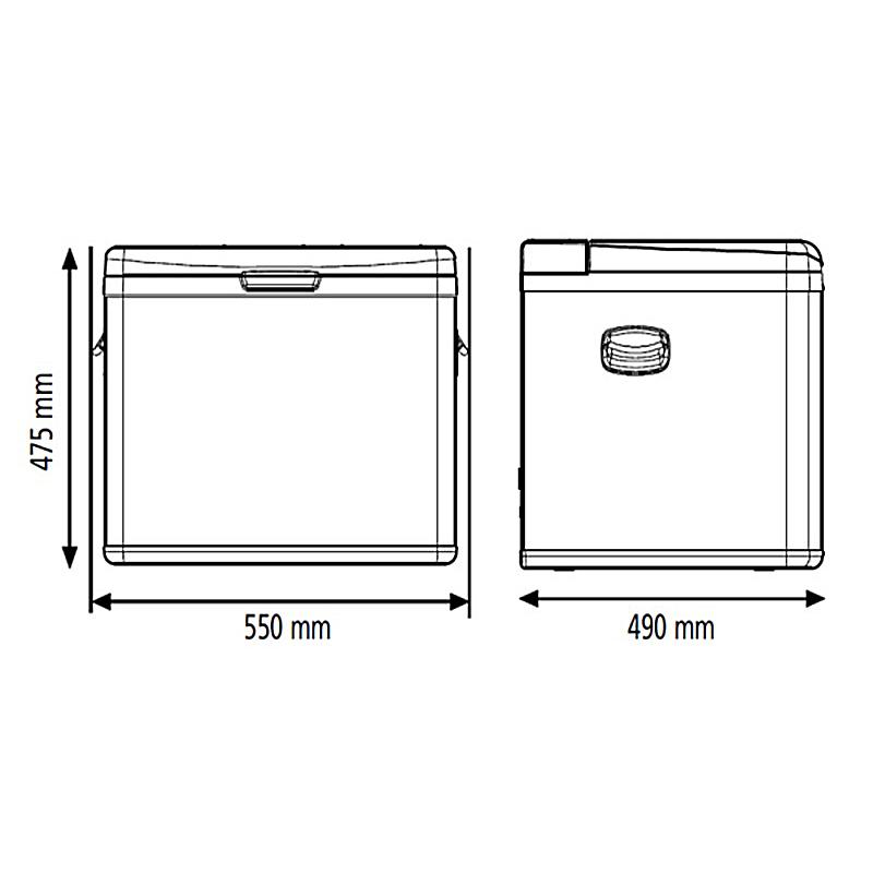 Размеры автохолодильника Indel B TB45A для проката